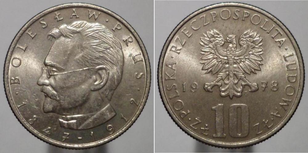 Польская монета 10 злотых 1978 года стоимость купить марки днр